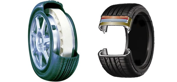 the difference between run flats and standard tyres
