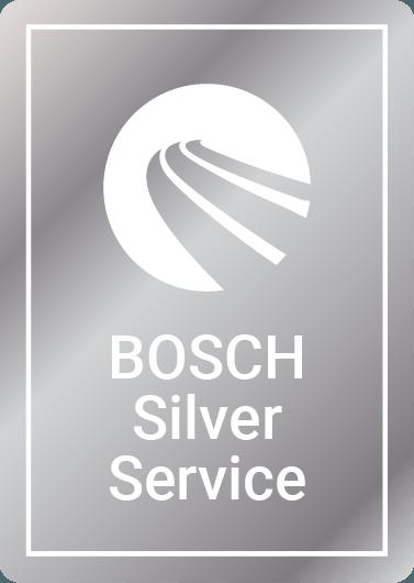 Bosch Silver car service logo