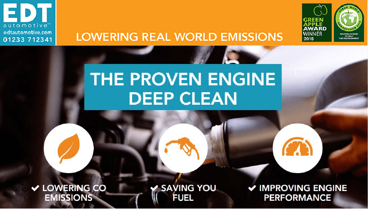 Engine deep cleaning lowers emissions, saves fuel and improves engine performance